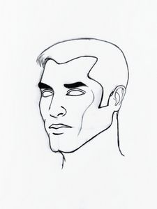 Male face drawing