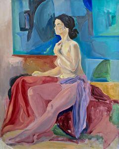 Woman in atelier