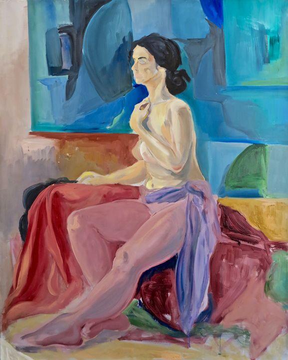 Woman in atelier - Paintings