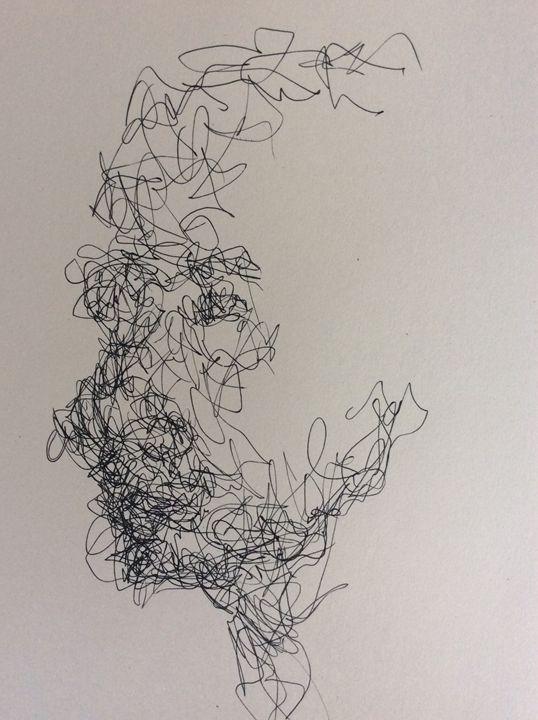 Energetic Drawing - The Face Series - Richard Albert Broeksema