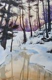 """""""Winter Silence"""" watercolor painting"""