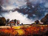 Stormy Skies, watercolor painting