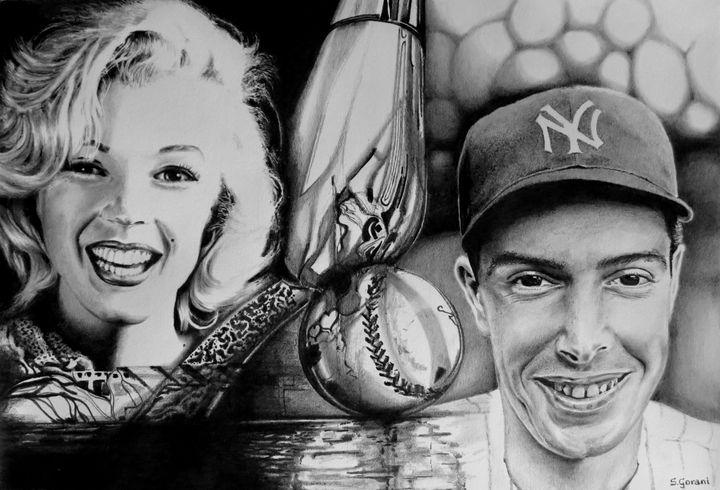 Monroe And DiMaggio - GeniArt