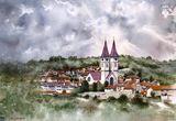 Watercolor painting of Gjakova
