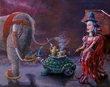 Tea Time, oil on canvas