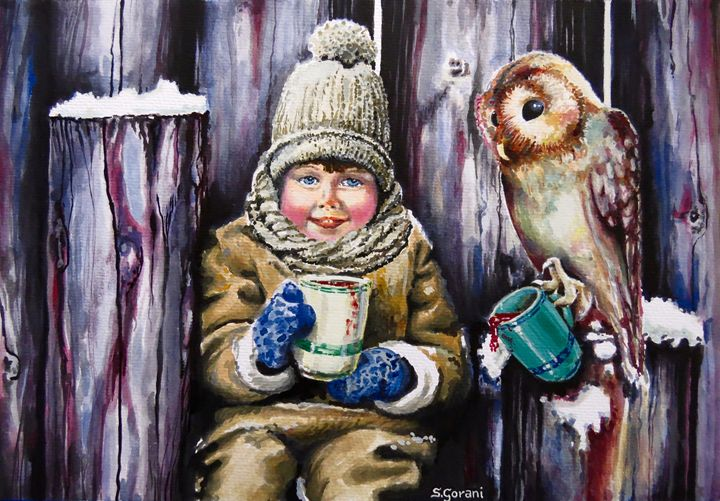 Sharing A Hot Chocolate - GeniArt