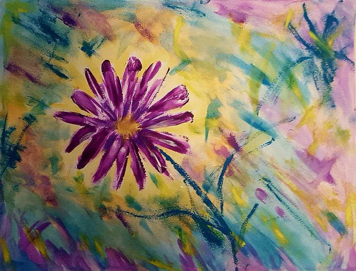 Purple flower - Sil