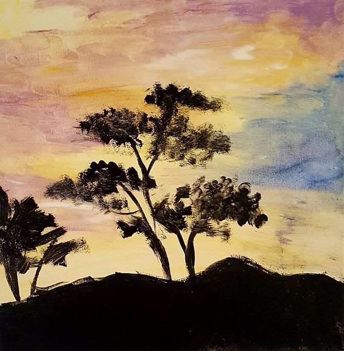 Savanna sunset - Sil