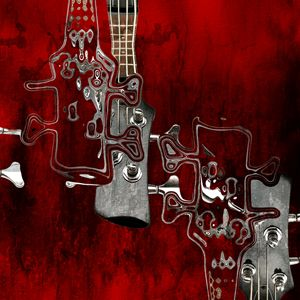 Musical Abstract Red - 01bt02