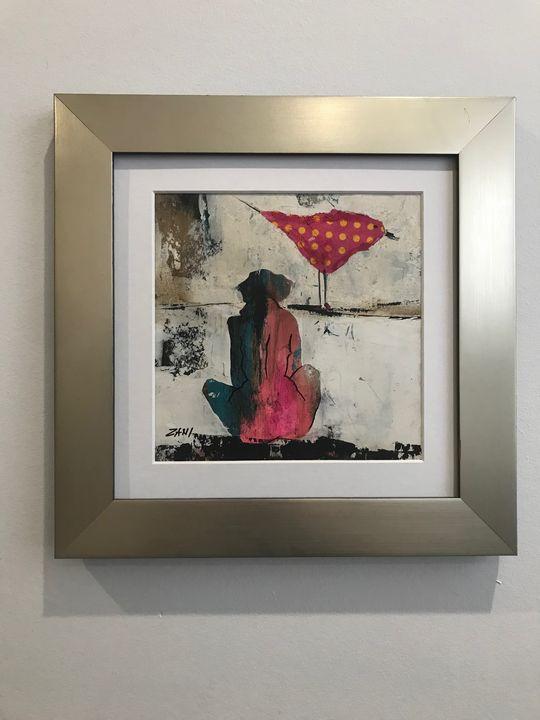 Woman with Bird by Zani - Stellini Gallery