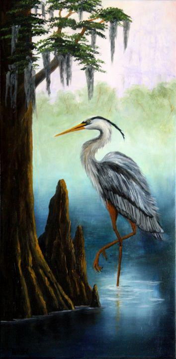 Crane On Horseshoe Lake - Lendel