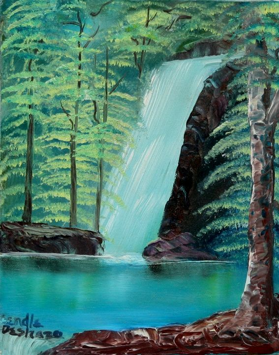 Waterfall In The Woods - Lendel