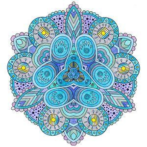 Cold Blue Mandala