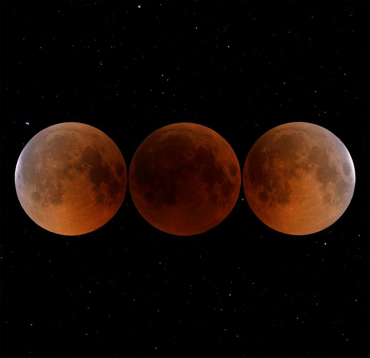 The Blood Moon and Stars - Great American Eclipse
