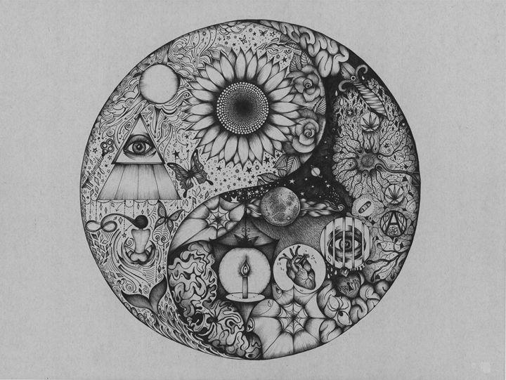 The Mystic and the Madman - Zan Schaefer Art
