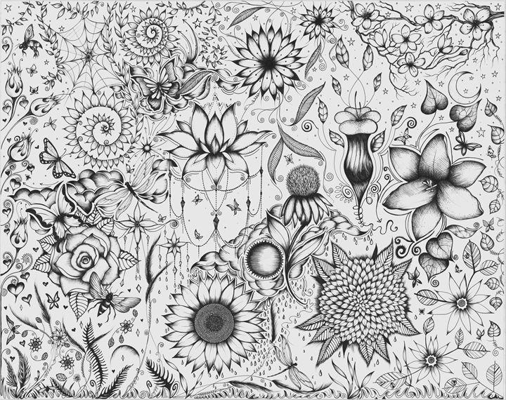 Flora of Ink - Zan Schaefer Art