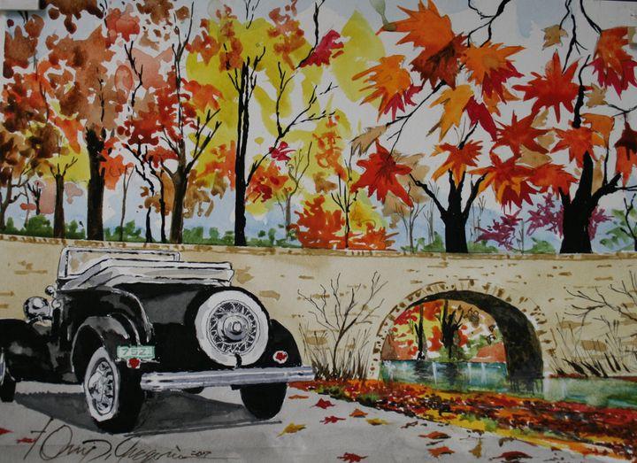 Autumn Vintage - Watercolors byTony Digregorio