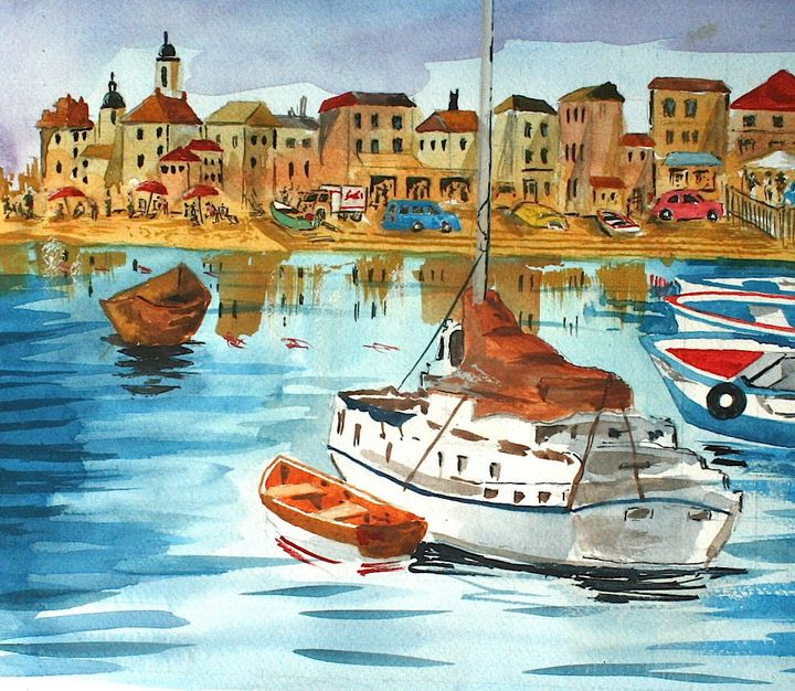 Bazaar by the Bay - Watercolors byTony Digregorio