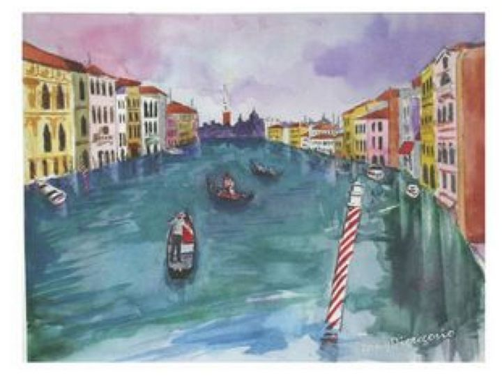 A Day in Venice - Watercolors byTony Digregorio