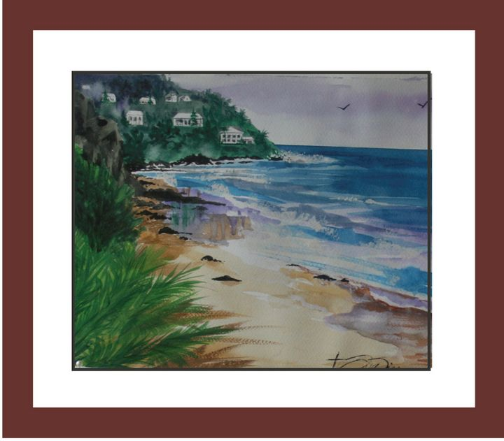 Anywhere Beach - Watercolors byTony Digregorio