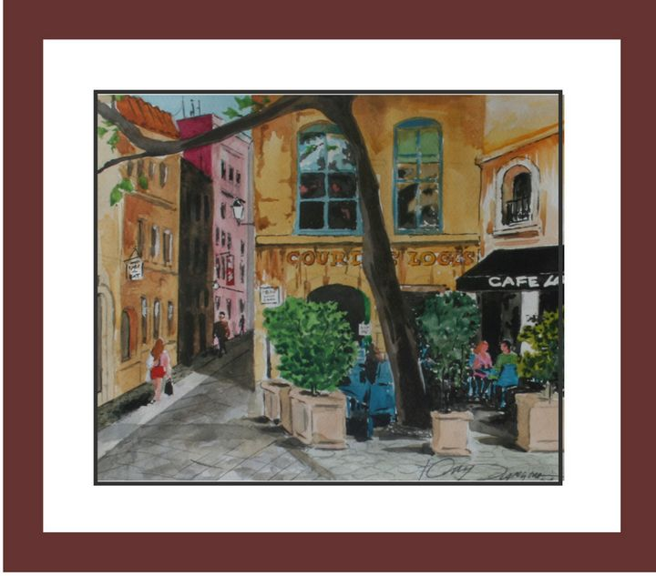 Cafe La Ronde - Watercolors byTony Digregorio