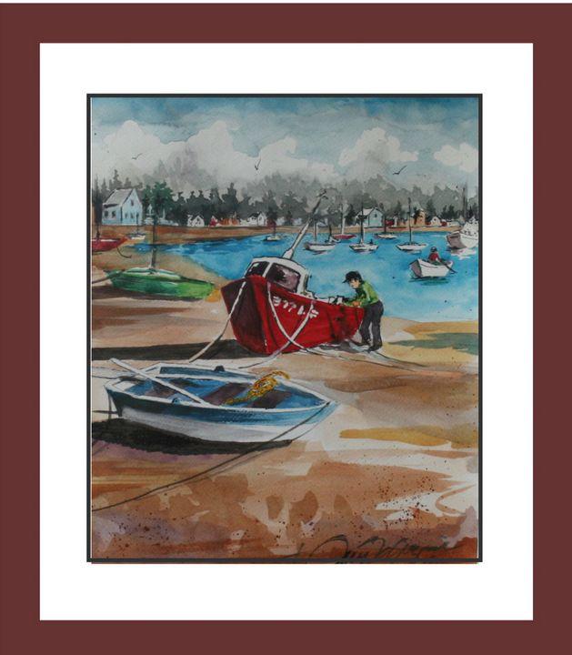 Greek Fisherman - Watercolors byTony Digregorio