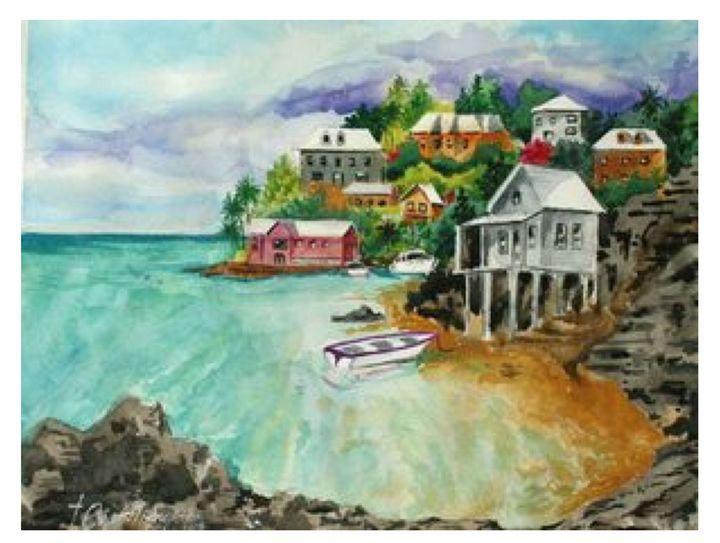 Bermuda Shores - Watercolors byTony Digregorio