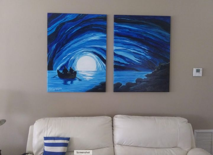 Blue Grotto - Watercolors byTony Digregorio