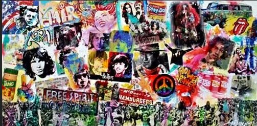 Turbulent Sixties Pop art - Watercolors byTony Digregorio