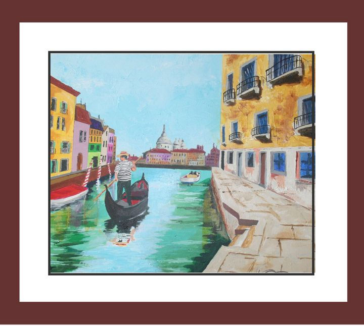 A Day in Venice/acrylic on canvas - Watercolors byTony Digregorio