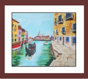 A Day in Venice/acrylic on canvas