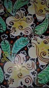 Hand drawn textile floral pattern