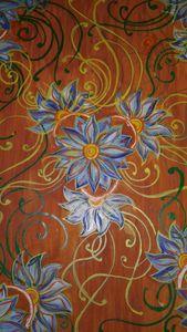 Hand drawn textile pattern