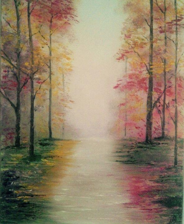Original oil painting -Autumn - JB