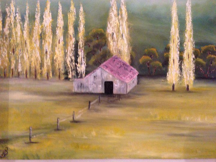 """Oil painting """"Cottage"""" - JB"""