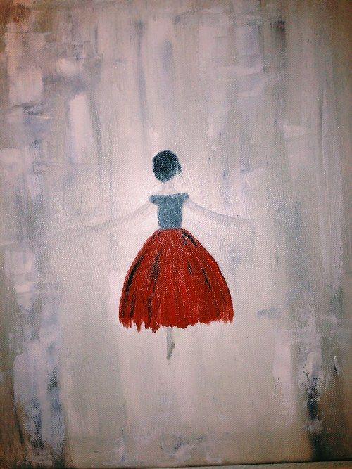 Ballerina in red dress - JB