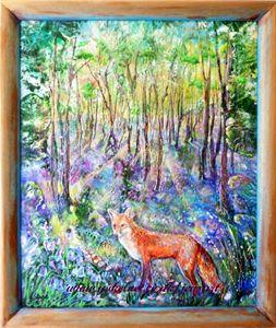 Fox in Bluebell Wood - Jensart