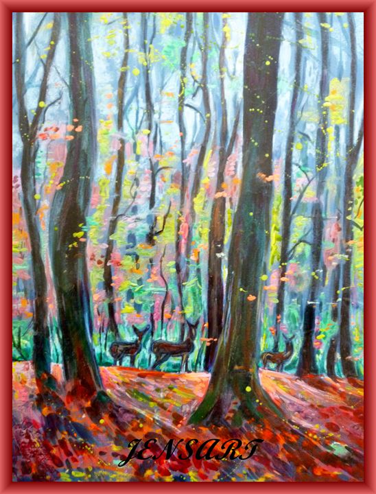 Deer in Autumn (A Brief Encounter) - Jensart