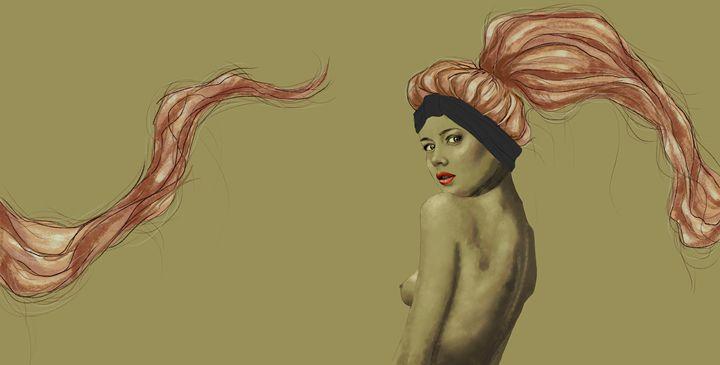 Pastel pink hair girl - Anaelisch