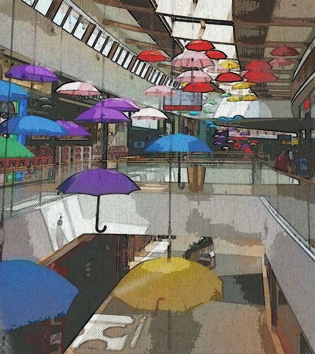 Umbrella Deco - Sweet~Sunset~Walks-Under~The~Glowing~Sky