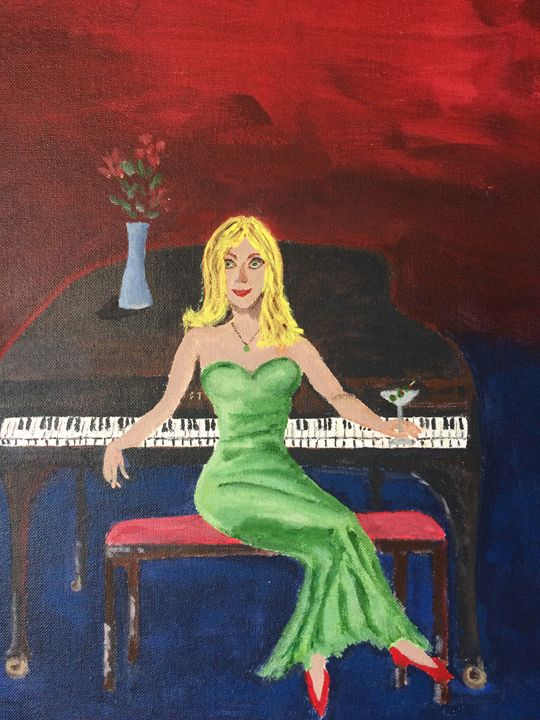 """The Lady in Green"" - Bill Matkin"