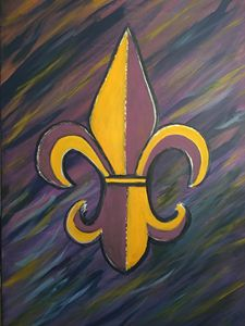 Who Dat with an LSU flair...!!