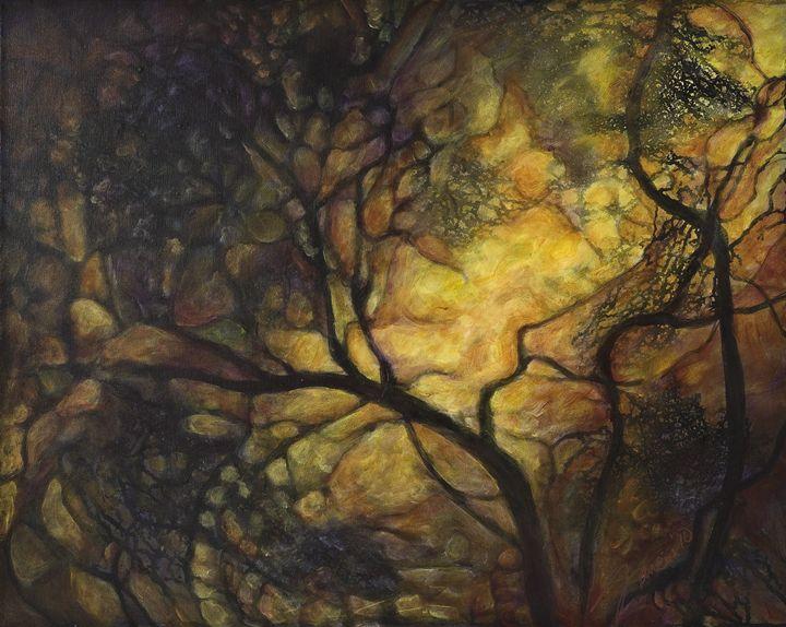 Golden Lite Thru the Trees - francine mabie