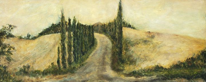 A hill in Tuscany - francine mabie