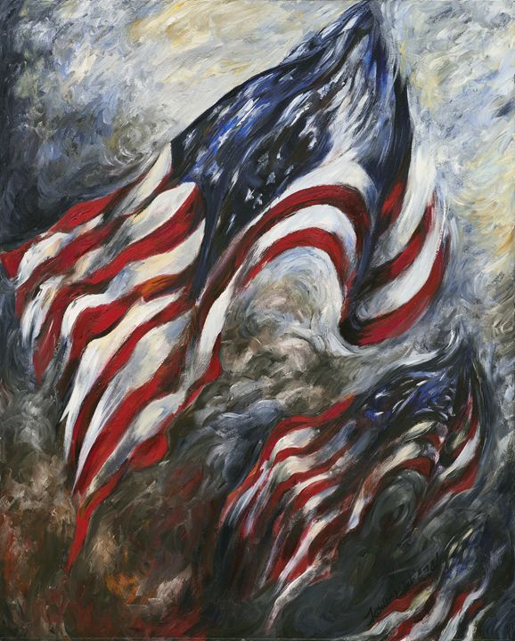 ...and our flag was still there. - francine mabie