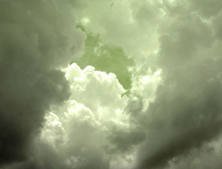 Clouds with a hint of greem - francine mabie