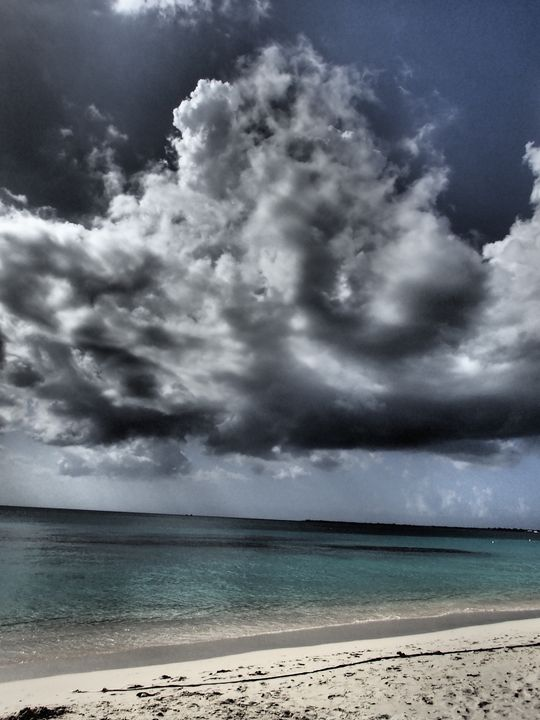 Dark Clouds over 7 Mile Beach - francine mabie