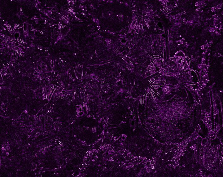 Purple Neon Balls - francine mabie