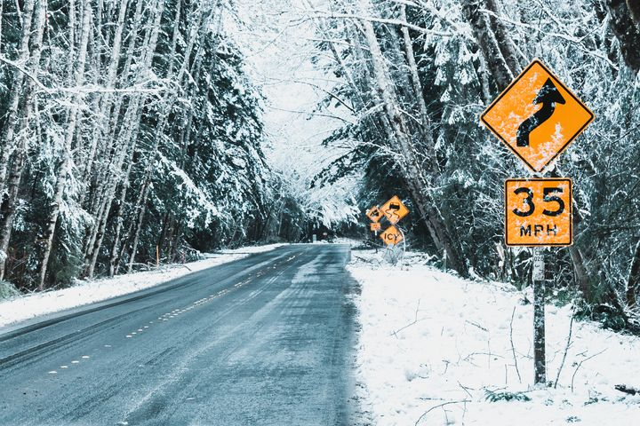 Snowy Road - Caleb French Photography