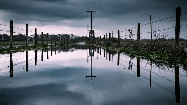 Flooded Road - Caleb French Photography